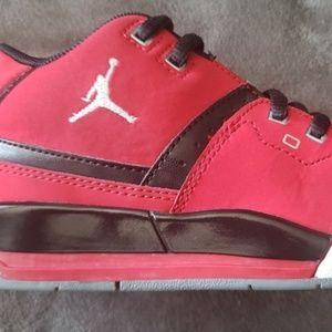 Air Jordan Red Sneakers size 12 C Kids